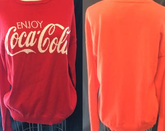Coca Cola red  themed pullover sweater large medium
