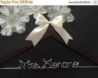 SUMMER SALE Wedding Hanger, Bridal Hanger, Personalized Custom Bridal Hanger, Brides Hanger, Bride, Name Hanger, Personalized Bridal Gift
