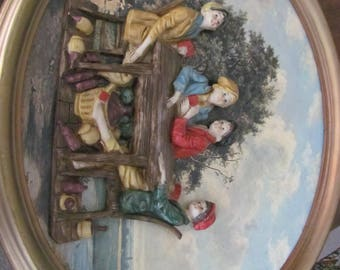 Vintage Empire Art Co. 3D Wall Hanging Florentine Style Boys Playing Cards