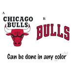Chicago Bulls  Basketball Decal/ RTIC, YETI, Tumbler, Car, Cell Phone, Computer