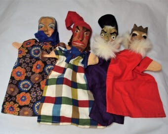 Vintage Lotte Sievers-Hahn Puppets Lot of 6 Germany