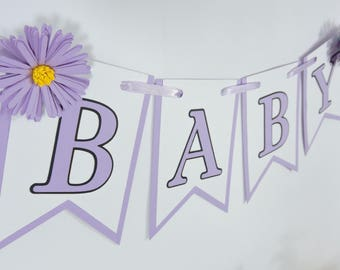Baby Pennant Banner for Baby Shower or Gender Reveal Party