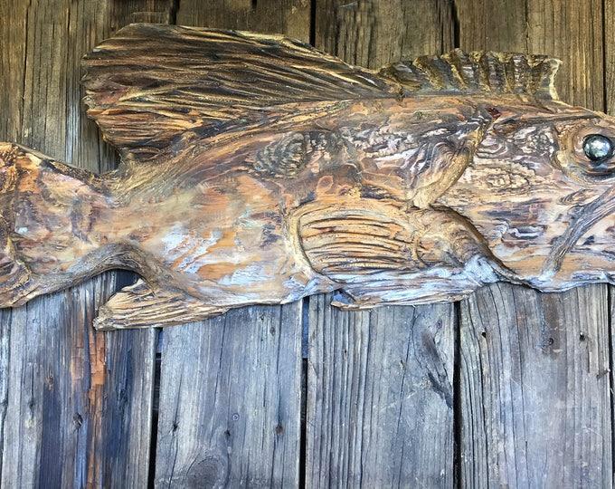 Driftwood Beach Décor Fish 2d sculpture by SEASTYLE