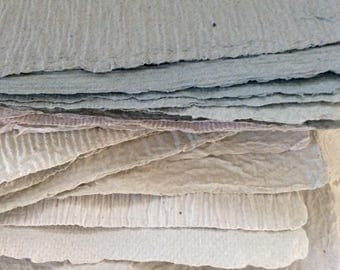 Gray Handmade paper - Shades of Grey - Homemade Paper - Pick the Amount - acid free - recycled paper - textured paper - Archieval quality