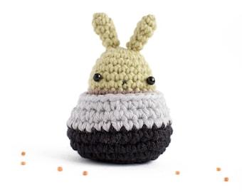crochet bunny succulent plant - amigurumi cactus plush