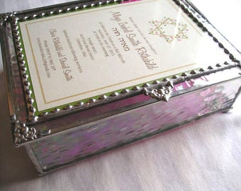 MADE to ORDER|Bat Mitzvah Box|Bat Mitzvah Gift|Stained Glass Bat Mitzvah Box|Stained Glass Keepsake Box|Handcrafted|Made in America