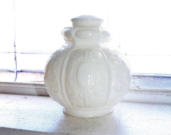 Victorian Ceiling Light Globe Vintage Milk Glass Shade