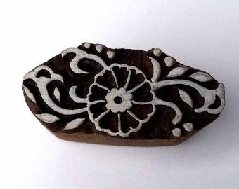 Flower Stamp - Indian Wood Stamp - Wood Block Printing - Hand Carved