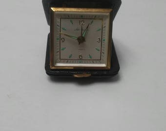 Vintage Seth Thomas Travel Wind Up Alarm Clock 7 Jewels Made In Germany Tested