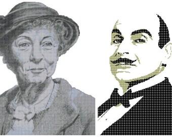 SALE! Agatha's Detectives! Poirot & Miss Marple for Cross Stitch