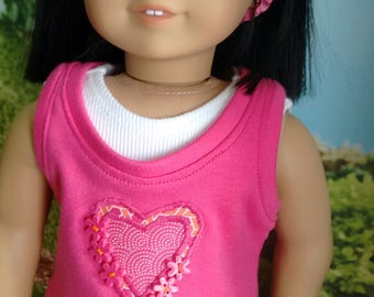 Four Piece Ruffled Skirt and Layered Top Set for 18 Inch Dolls such as American Girl Dolls