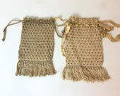 Antique Crochet Ivory Pur...