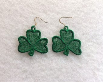 St. Patty's Day Shamrock Earrings