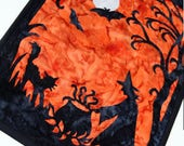 Reserved Instrustions and Pattern for Halloween Black Cat & Witch Quilted Wall Hanging