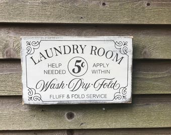 Laundry room sign, primitive laundry sign, farmhouse kitchen sign, farmhouse decor, rustic home decor, laundry decor , wood sign decor
