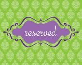 Reserved for christina m...
