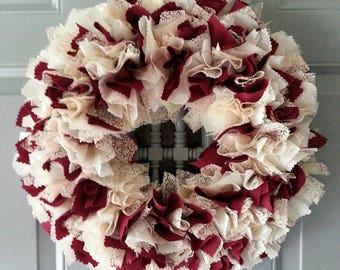 Burgundy Wreath, Burgundy Door Wreath, Indoor Wreath, Burgundy and Blush, Burgundy Wall Art, Burgundy Wall Decor, Burgundy Decor, Burgundy