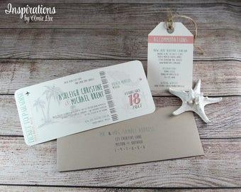Boarding Pass Wedding Invitations, Destination Wedding, Wedding Invitations, Beach Wedding, Boarding passes