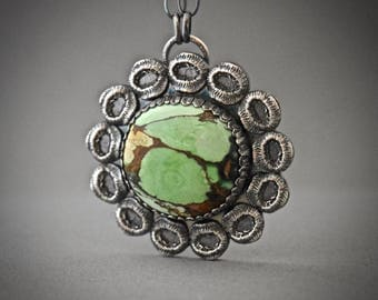 Australian Variscite III Necklace, gemstone Necklace, statement necklace, gift for her, gift idea, perfect gift, Christmas gift, ooak
