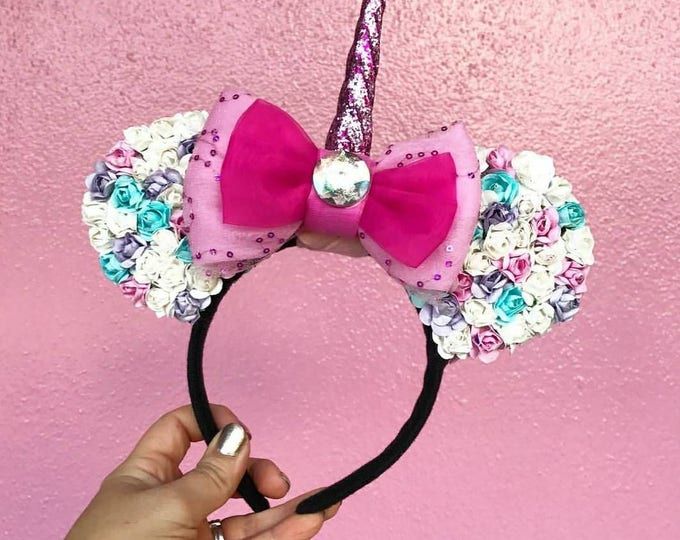 Multicolor Flower Floral Minnie ears