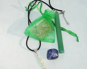 Good Luck Spell Kit with Token Necklace - Everything You Need