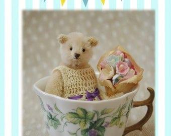 Grace,miniature teddy bear artist by Little Bear