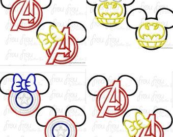 Super Hero Mickey & Minnie Mouse