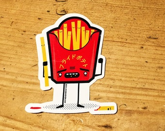 French Fries (Chips) vinyl sticker