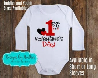 Valentine's Day Bodysuit - 1st Valentine's Day Shirt - Baby's First Valentine - Valentine's Bodysuit - Baby Valentine's