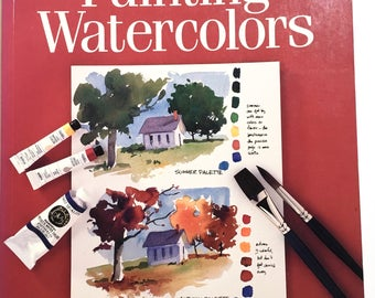 Painting Watercolors - Beginner's Watercolor Painting Technique - Art Instruction Book - Cathy Johnson - Gift for Artist - Artist Supplies