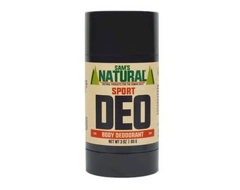 Sam's Natural - Sport Natural Deodorant for Men - Gifts for Men - Natural, Vegan + Cruelty-Free