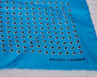 Vintage Ralph Lauren Silk Pocket Square