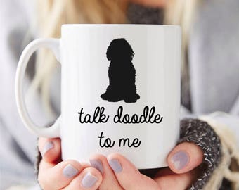 Goldendoodle Mug Gift – Talk Doodle To Me- Funny Coffee Mug, Custom Doodle Mug, Doodle Mom Gift, Doodle Dad Gift, Doodle Dog Lover Gift