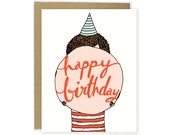 Happy Birthday Card, Cute Birthday Card, Sweet Birthday Card, Friend Birthday Card, For Friend, Food Card, Illustrated Card, Card For Her