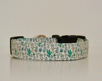 Cactus Green Dog Collar Dog Collar Summer Wedding Accessories Made to Order