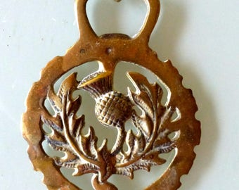 Antique Genuine Scottish Horse Brass