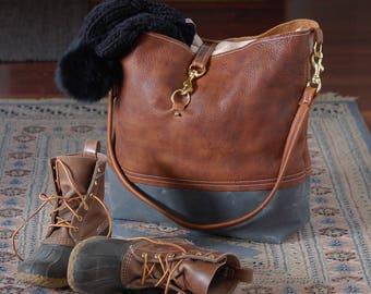 Leather Weekender Travel Tote - the Getaway Bag