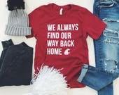 WAY BACK HOME - Unisex Short Sleeve Crimson T-Shirt