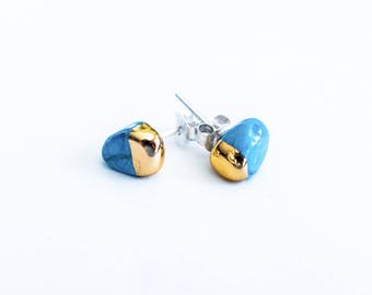 Gold Dipped Turquoise  Studs
