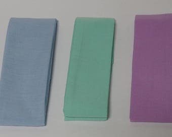 3 - Pastel Neck Cooler Ties -  Neck Tie Coolers -  Neck Cooling Wrap