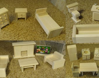 Wooden Dollhouse Furniture Hand Crafted 2017-18