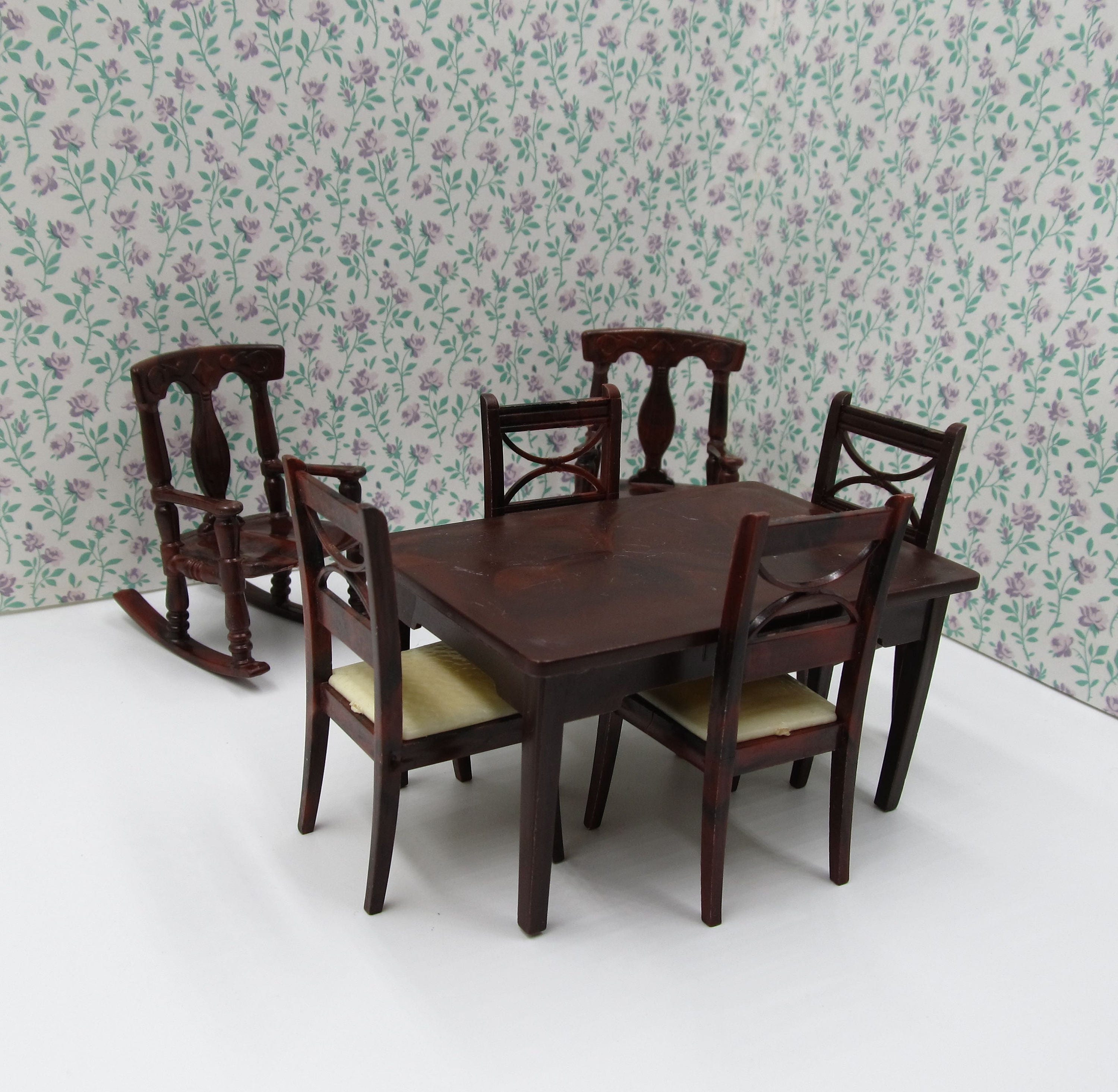 Vintage Renwal RARE Brown Kitchen Table Chairs Renwal
