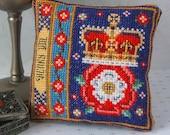 King Henry VIII Badge Pincushion Cross Stitch Kit