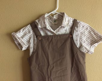 Girl Scouts Brownie Uniform // vintage