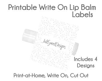 Ballet Lip Balm Labels - Black Tie Ivy Flower Lattice 4 Designs, Write On Print at Home Instant Download, Lip Balm Labels
