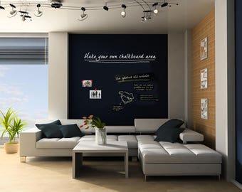 large chalkboard blackboard wall decal diy make your own chalkboard area chalkboard