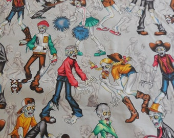 Zombie High - Mist Colored Deleon Design Group - Alexander Henry Fabric 1 Yard