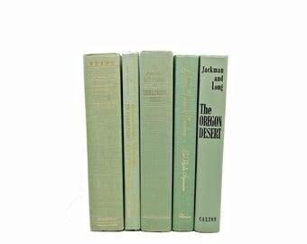 Sage Green Books, Antique Book Set, Pistchio Book Decor, Wedding Decor, Decorative Books, Home Decoration, Old Book Set, Book COllection