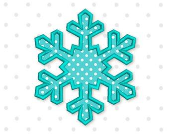 Snowflake Applique Machine Embroidery Design  New Year Frozen 3 sizes 4x4 5x7 6x10 CHR060
