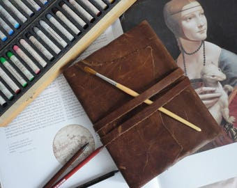 Large A5 Leather hand bound journal